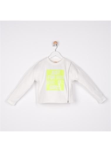 Panço Kız Çocuk Sweatshirt 2111GK08003 Beyaz